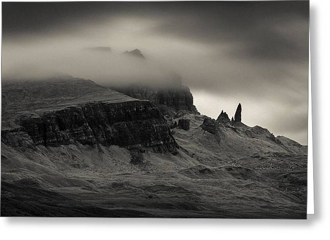 Old Man And The Storr Greeting Card by Dave Bowman