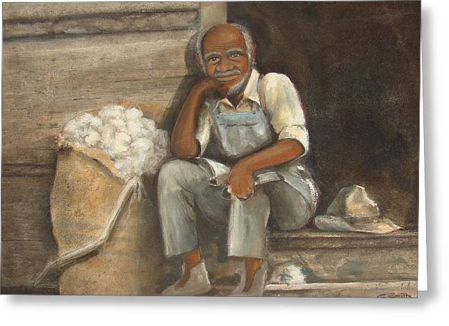 Old Man Cotton Greeting Card by Charles Roy Smith
