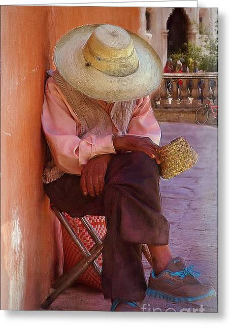 Old Man In Atottonilco Greeting Card