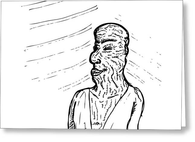 Old Man Greeting Card by Karl Addison