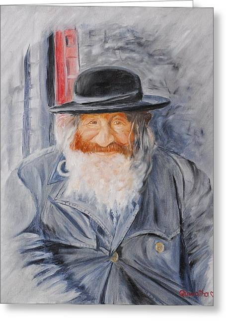 Old Man Of Jerusalem Greeting Card by Quwatha Valentine