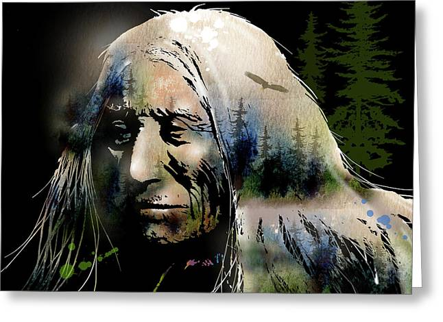 Old Man Of The Woods Greeting Card by Paul Sachtleben
