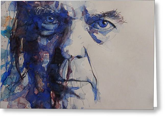 Old Man - Neil Young  Greeting Card by Paul Lovering