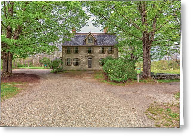 Old Manse Concord, Massachusetts Greeting Card