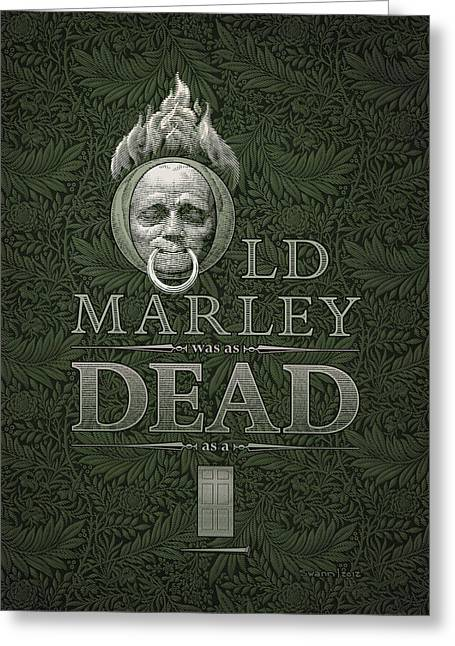 Old Marley Greeting Card
