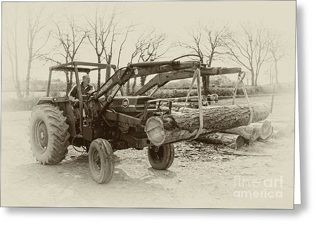Old Massey 185  Greeting Card by Rob Hawkins