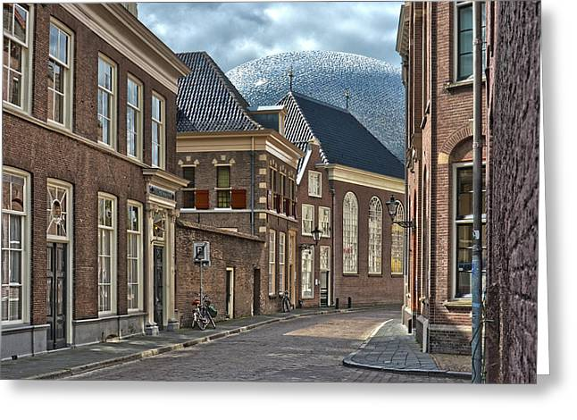 Old Meets New In Zwolle Greeting Card