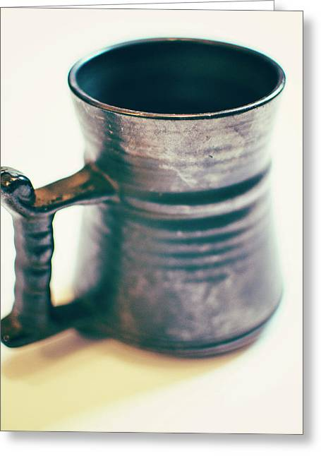 Old Metal Mug Greeting Card by Tracy Smith