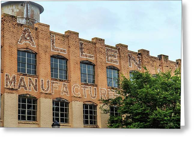Old Mill Building In Buford Greeting Card