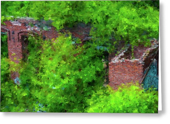 Old Mill Building In Lawrence Massachusetts Greeting Card