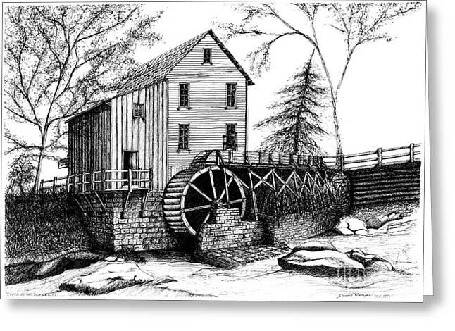Old Mill Greeting Card by Dawn Boyer