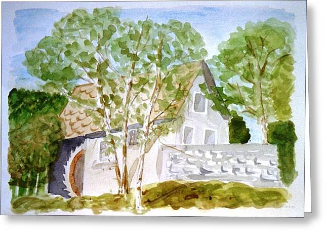Old Mill House Greeting Card
