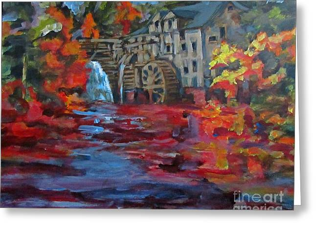 Old Mill In Autumn Greeting Card by John Malone