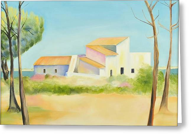 Old Mill In The Algarve Greeting Card by Jenny anne Morrison