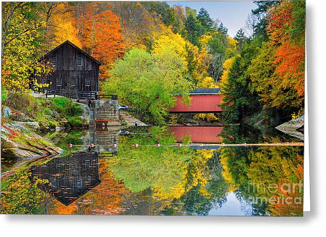 Old Mill In The Fall  Greeting Card by Emmanuel Panagiotakis