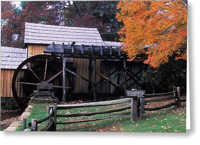 Old Mill In Virginia Greeting Card by Carl Purcell