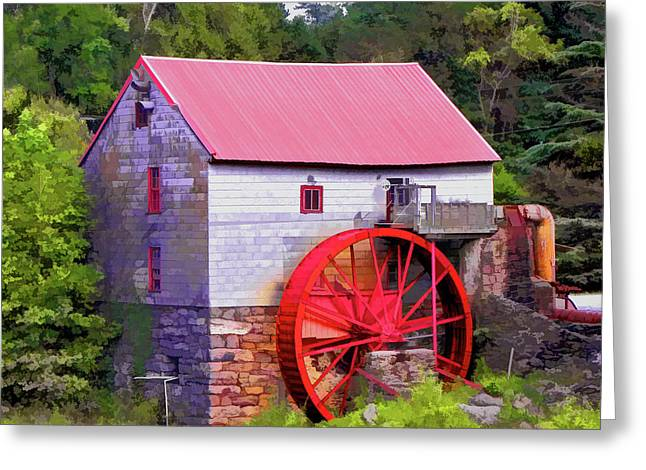 Old Mill Of Guilford Painted Square Greeting Card by Sandi OReilly