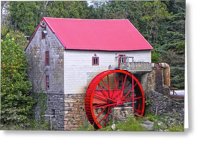 Old Mill Of Guilford Squared Greeting Card by Sandi OReilly