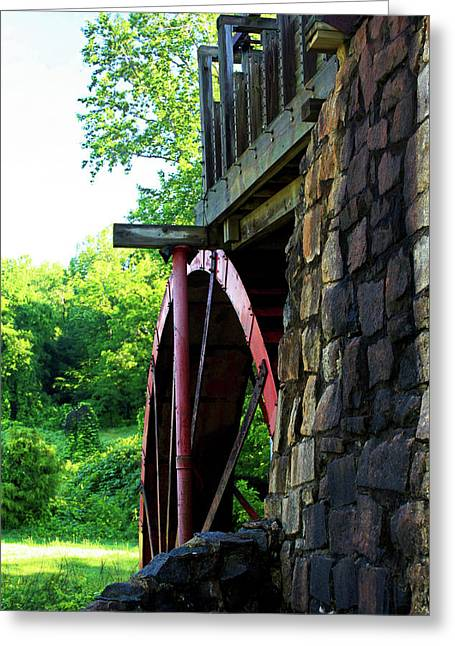 Old Mill Of Guilford Wheel Greeting Card