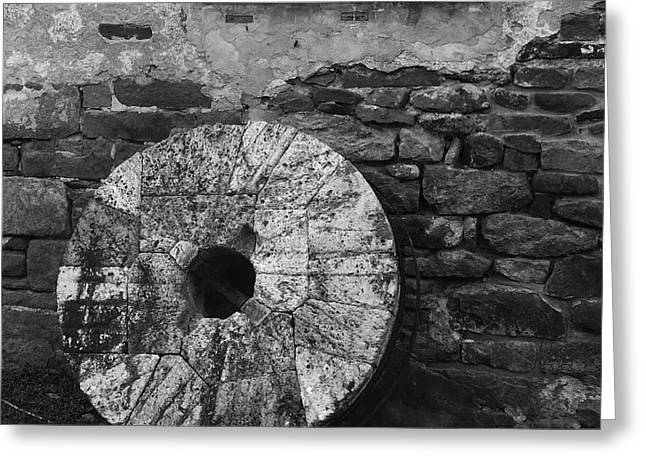 Old Mill Stone Greeting Card