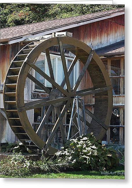 Old Mill Store Entry To Caverns Greeting Card by DigiArt Diaries by Vicky B Fuller