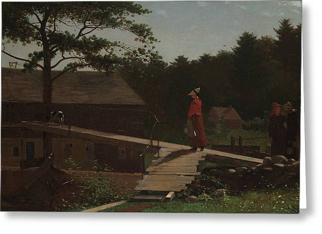 Old Mill  Greeting Card by Winslow Homer