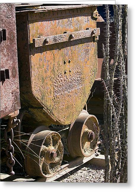 Old Mining Car Greeting Card