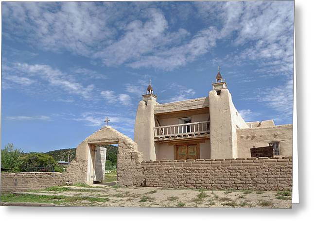 Old Mission, Las Trampas, New Mexico Greeting Card by Gordon Beck