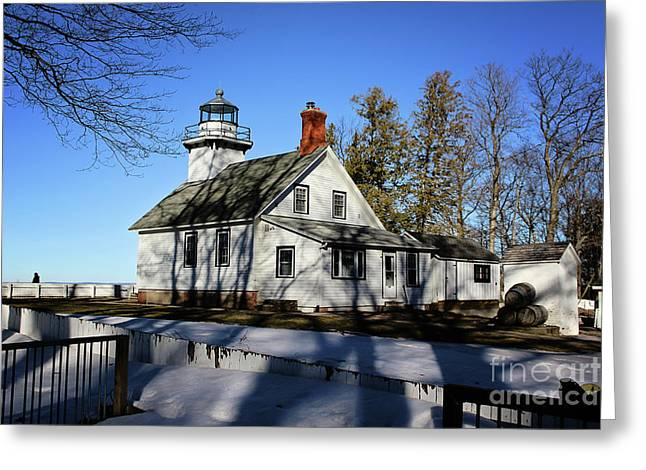 Old Mission Lighthouse Greeting Card
