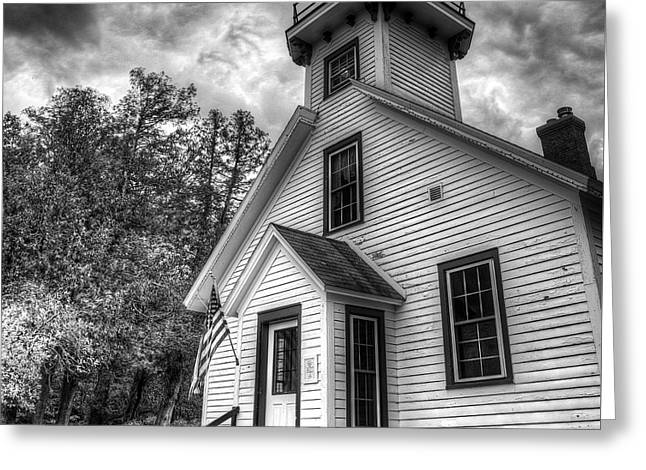 Old Mission Lighthouse Greeting Card by Twenty Two North Photography