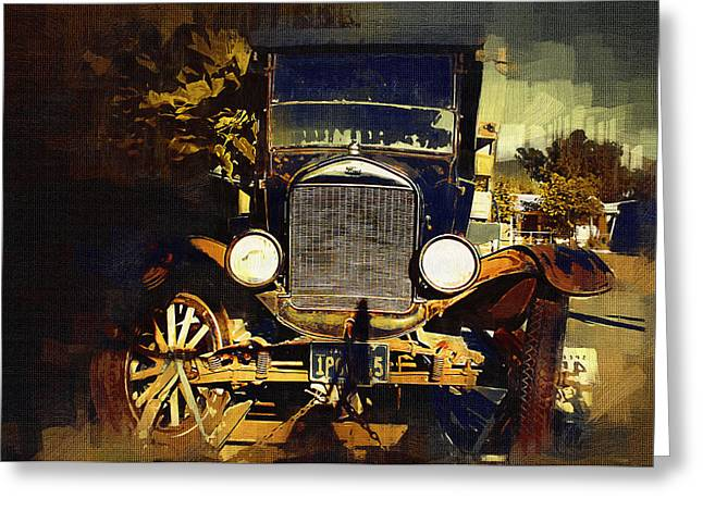 Old Model T Greeting Card by Holly Ethan