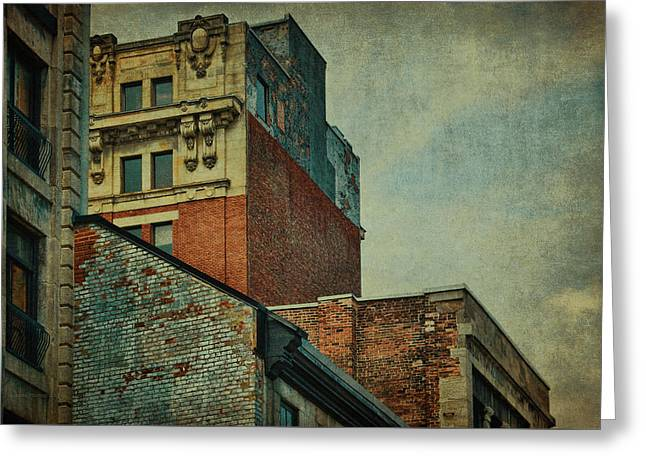 Old Montreal - Architectural Details Greeting Card by Maria Angelica Maira