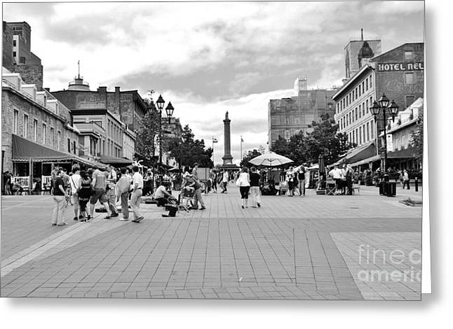 Old Montreal Jacques Cartier Square Greeting Card by Reb Frost