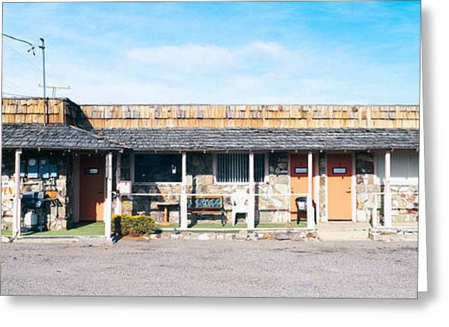 Old Motel In Tonopah, Nevada Greeting Card by Panoramic Images