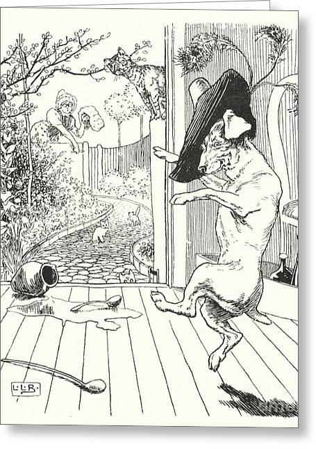 Old Mother Hubbard Greeting Card
