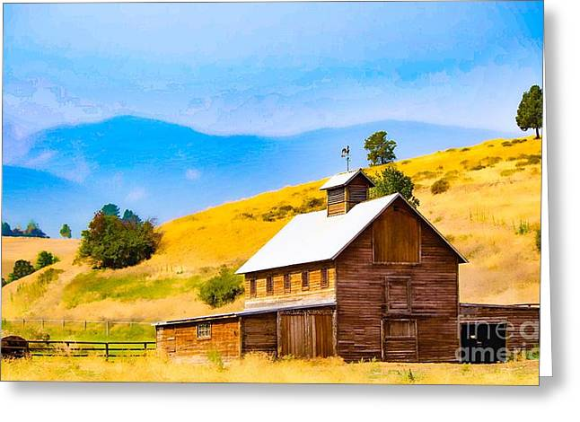 Old Mountain Barn Greeting Card by Jeanie Mann