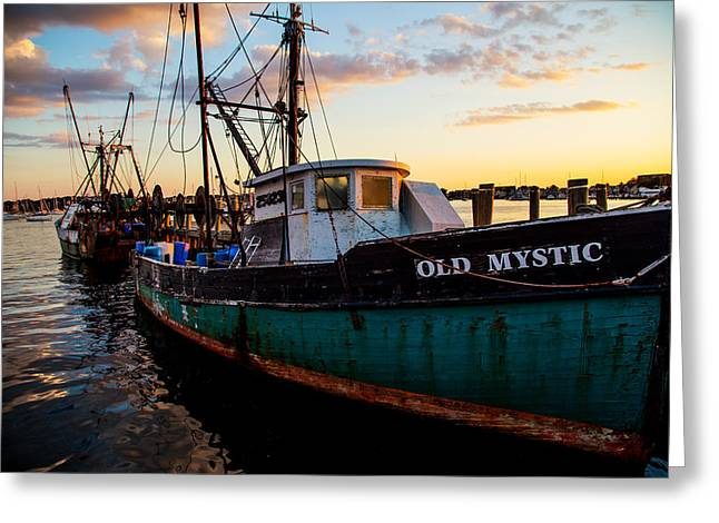 Old Mystic At Dock Greeting Card by Karol Livote