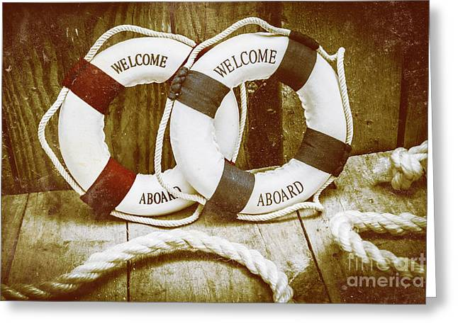 Old Nautical Art Greeting Card