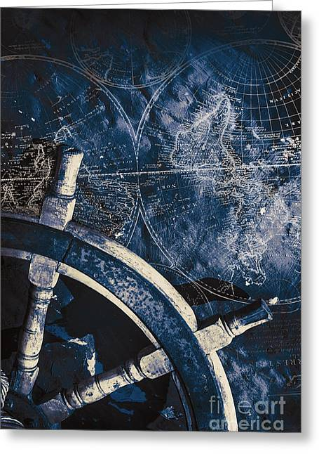 Old Nautical Navigation Greeting Card