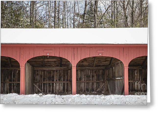 Old New England Carriage Barn Greeting Card by Edward Fielding