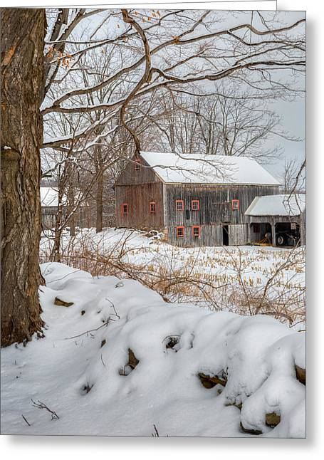 Old New England Winter 2016 Greeting Card by Bill Wakeley