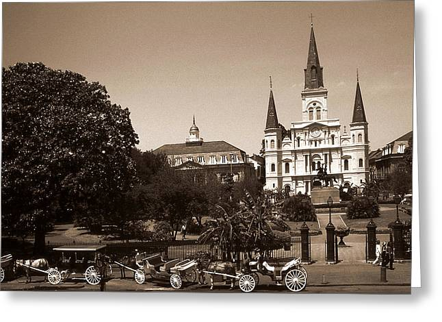 Old New Orleans Photo - Saint Louis Cathedral Greeting Card