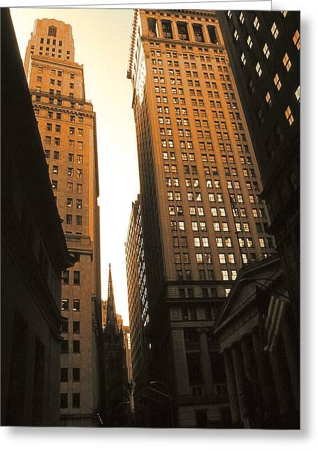 Old New York Wall Street Greeting Card