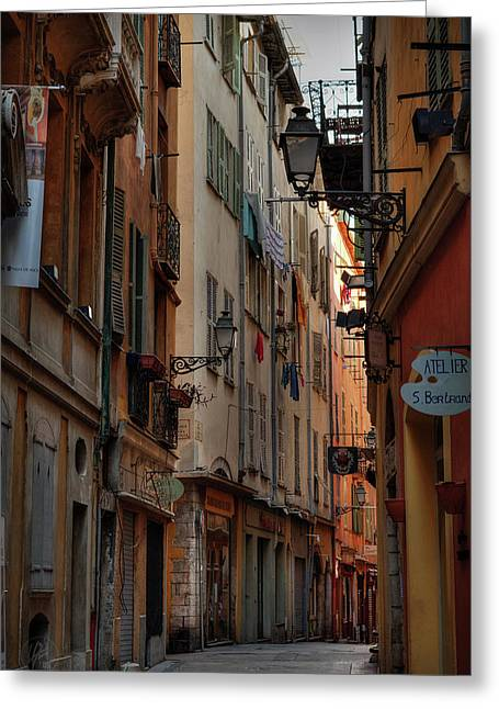Greeting Card featuring the photograph Old Nice - Vieille Ville 005 by Lance Vaughn