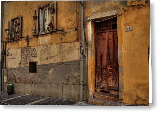 Greeting Card featuring the photograph Old Nice - Vieille Ville 008 by Lance Vaughn