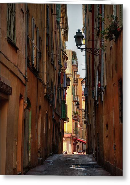 Greeting Card featuring the photograph Old Nice - Vieille Ville 009 by Lance Vaughn
