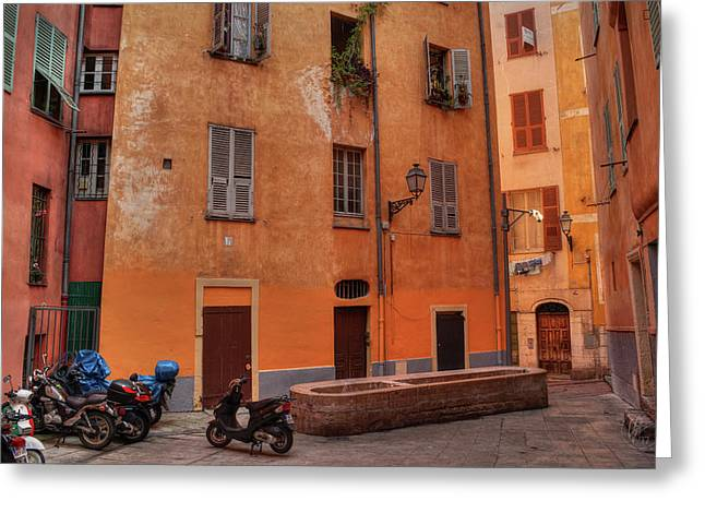 Greeting Card featuring the photograph Old Nice - Vieille Ville 010 by Lance Vaughn