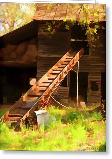 Old North Carolina Barn And Rusty Equipment   Greeting Card by Wilma Birdwell