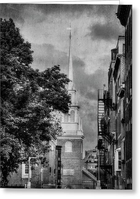 Old North Church - North End - Boston Greeting Card by Joann Vitali