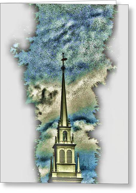 Old North Church Steeple Greeting Card